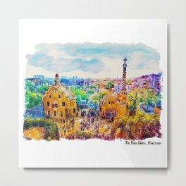 Park Guell Barcelona Metal Print