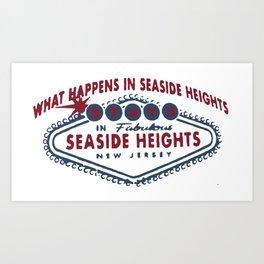 Seaside Heights - New Jersey. Art Print