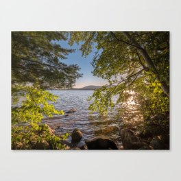 Secret Place By The Lake Canvas Print