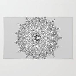 Gray Swirl Mandala light gray Rug