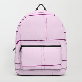 Straight lines with a twist no. 4 Backpack