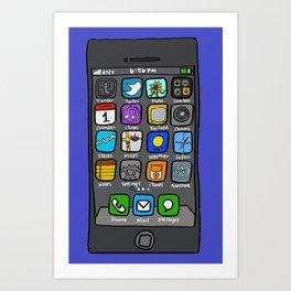 iPhone by Jenny Art Print