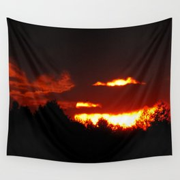 Sunset in Bieliczna 2 Wall Tapestry