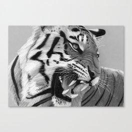 Roaring Tiger 2 Artwork Canvas Print