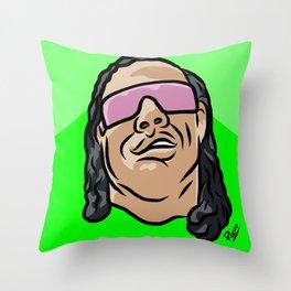 """Bret """"The Gunman"""" Hart Throw Pillow"""