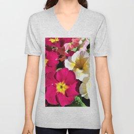 Polyanthus Flowers Unisex V-Neck