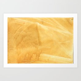 Sunny yellow painting Art Print