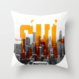 Rep your City: Chi Town Throw Pillow