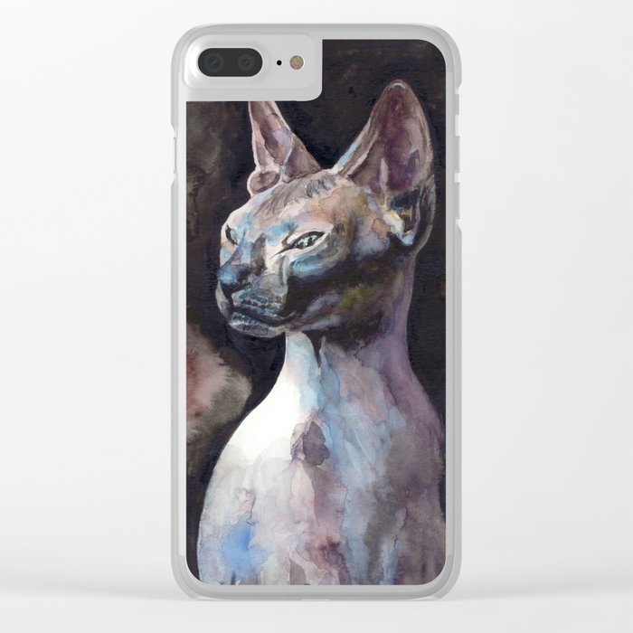 sphynx cat Clear iPhone Case