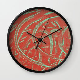 Junction - Red and Green Wall Clock