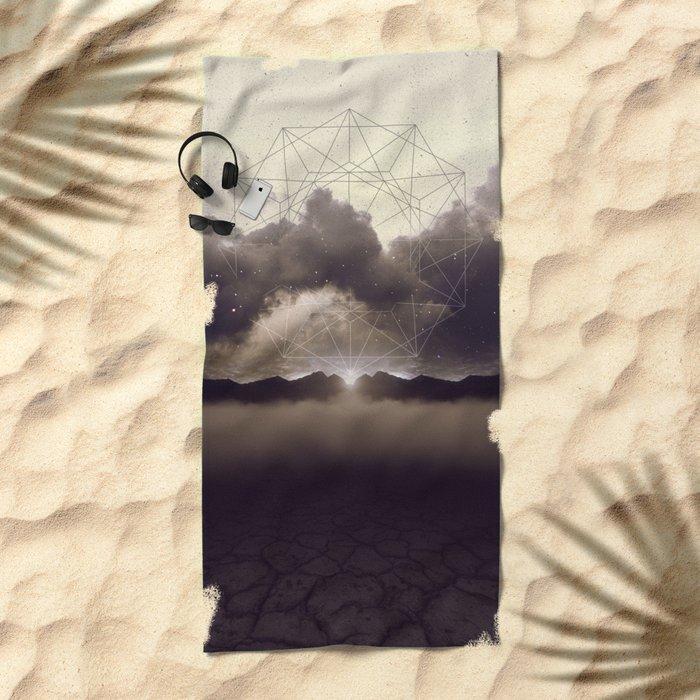 Beyond the Fog Lies Clarity   Dawn Beach Towel
