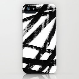 Calligraphy brushstrokes iPhone Case