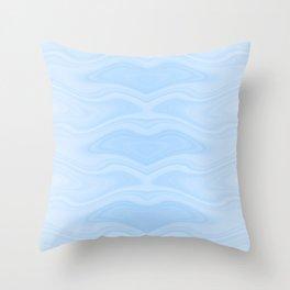 Abstract Manta Ray Throw Pillow