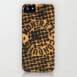 Montreal Conduits Yellow Satin iPhone Case