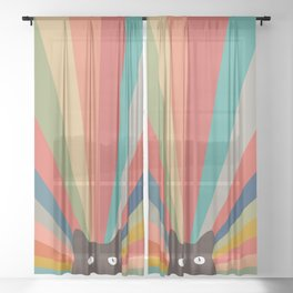 Cat Landscape 48 Sheer Curtain