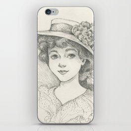 Sketch of an Edwardian Lady iPhone Skin