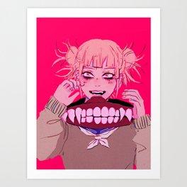 bnha - toga himiko Art Print