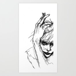 COURTNEY LOVE  Art Print
