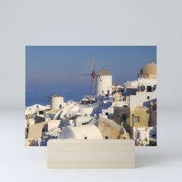 Oia Village in Santorini Mini Art Print
