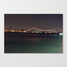 Bridge from Detroit to Canada Canvas Print