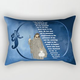 Jesus of Nazareth the Good Shepherd Rectangular Pillow