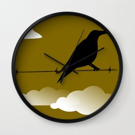 Quoth the Raven, Nervermore Wall Clock