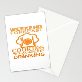 WEEKEND FORECAST COOKING Stationery Cards