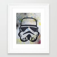 trooper Framed Art Prints featuring Trooper by Cyndi Sabido