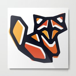 Anigami Fox Metal Print