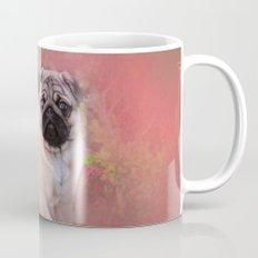 Pug In The Garden Mug