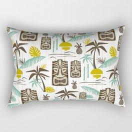 Island Tiki - White Rectangular Pillow