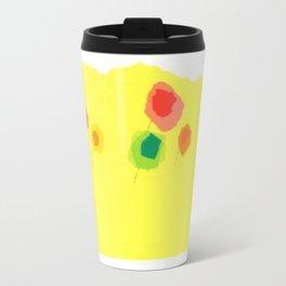 Sun and Flowers by D. Messenger, ca. 1969 Travel Mug