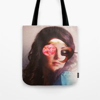lydia martin Tote Bags featuring Lydia by Marko Köppe