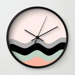 Pastel Nature Wave Mind Wall Clock