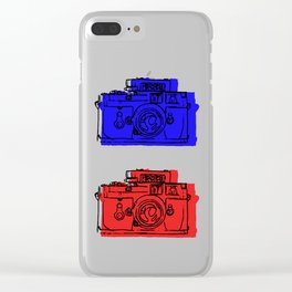 Click Click Red Clear iPhone Case