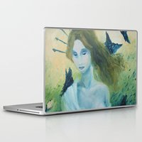 madonna Laptop & iPad Skins featuring Butterfly Madonna by AriesNamarie