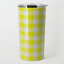 Yellow Buffalo Plaid Travel Mug