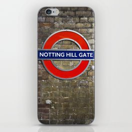 Notting Hill Gate Tube Sign iPhone Skin