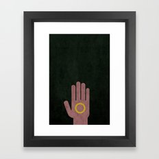Lord of the Rings Minimalist Posters: Fellowship Framed Art Print