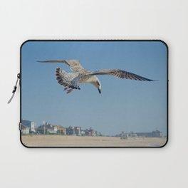 Seagull in Flight Coastal Bird Animal / Wildlife Photograph Laptop Sleeve