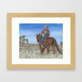 Riding the Range Framed Art Print