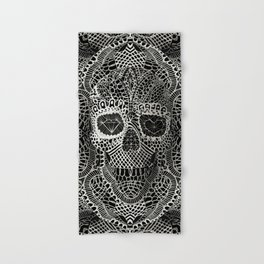 Lace Skull Hand & Bath Towel