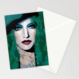 French Girl by Lika Ramati Stationery Cards