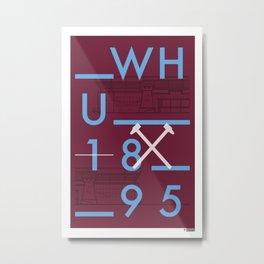 Upton Park/Boleyn Ground Football Stadiums Series Metal Print
