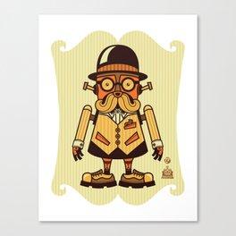 Moustache Bot Canvas Print