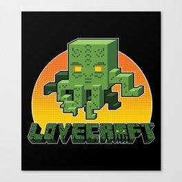 Minecraftian Canvas Print