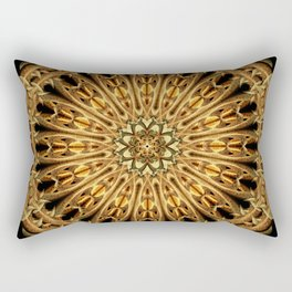 Earth Crystal Mandala Rectangular Pillow