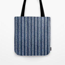 Mud cloth - Navy Arrowheads Tote Bag