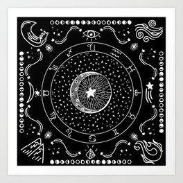 Zodiac Bandana Art Print