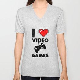 I Love Video Games Unisex V-Neck